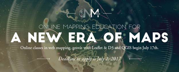 New Maps Plus – online graduate courses in open source mapping start April 9th!