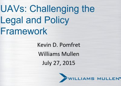 UAVs: Challenging the Legal and Policy Framework