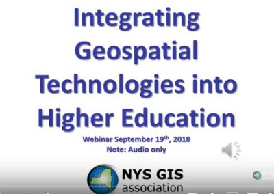 Integrating Geospatial Technologies into Higher Education