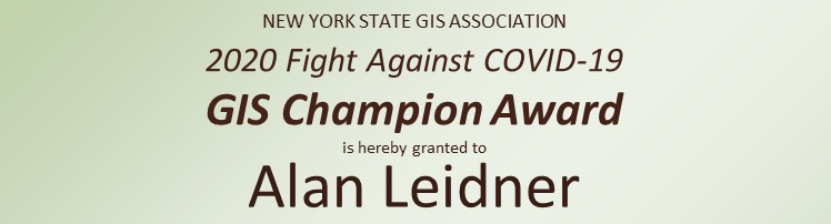 2020 GIS Champion:  Alan Leidner
