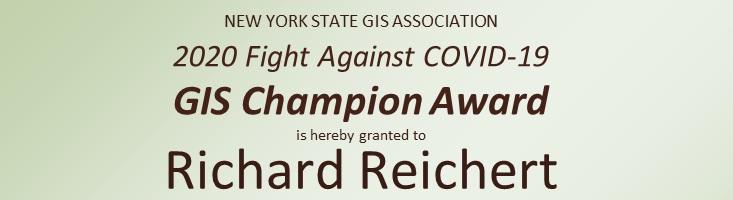 2020 GIS Champion:  Richard Reichert