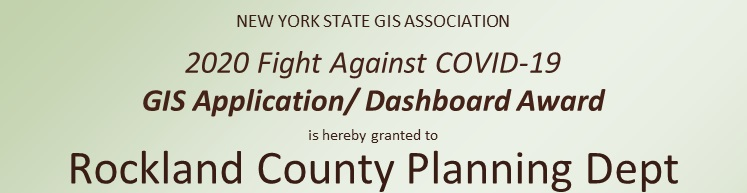 2020 Application/Dashboard Winner:  Rockland County Planning Department