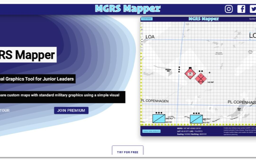 eSpatially – MGRS Mapper: Software for Military Operations Mapping