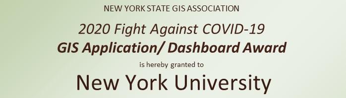 2020 Application/Dashboard Winner:  New York University
