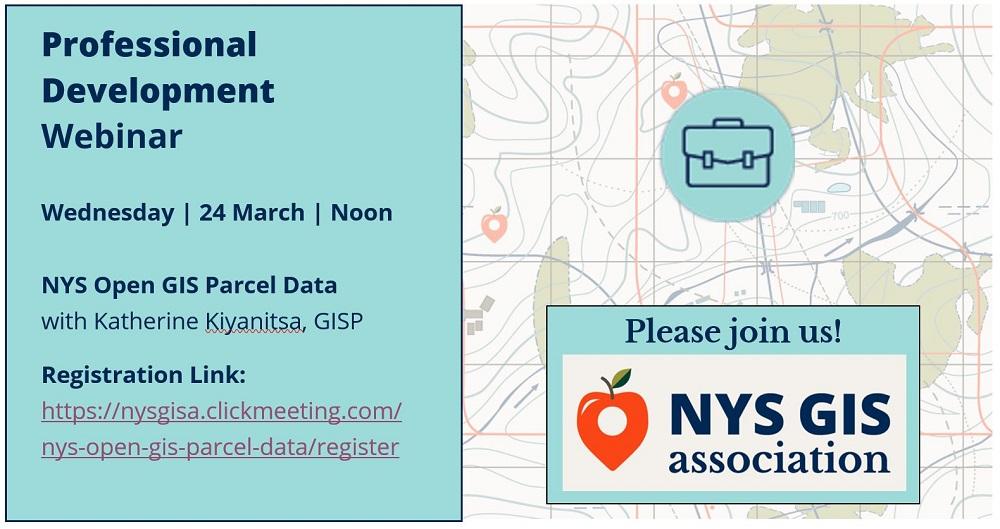 WEBINAR ALERT! EXTRA EXTRA! NYS Open GIS Parcel Data 3/24